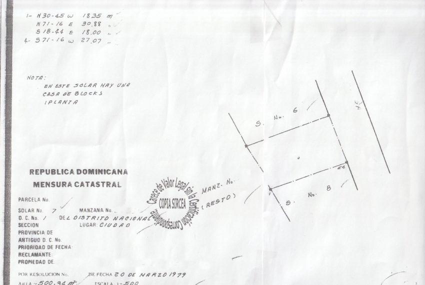 Plano El Millon